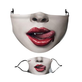 True blood, Μάσκα υφασμάτινη Ενηλίκων πολλαπλών στρώσεων με υποδοχή φίλτρου