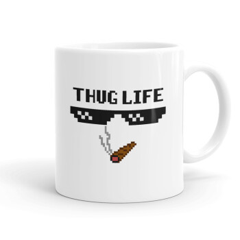 thug life, Κούπα, κεραμική, 330ml (1 τεμάχιο)