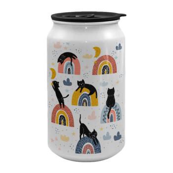 Γατούλες, Κούπα ταξιδιού μεταλλική με καπάκι (tin-can) 500ml