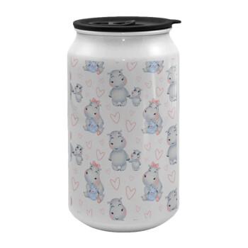 Ιπποπόταμος, Κούπα ταξιδιού μεταλλική με καπάκι (tin-can) 500ml