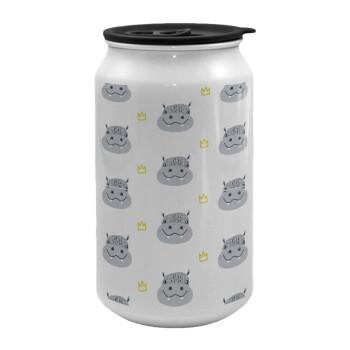 Hippo, Κούπα ταξιδιού μεταλλική με καπάκι (tin-can) 500ml