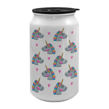 Unicorn, Κούπα ταξιδιού μεταλλική με καπάκι (tin-can) 500ml