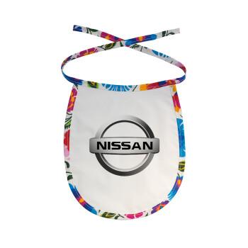 nissan, Σαλιάρα μωρού αλέκιαστη με κορδόνι Χρωματιστή