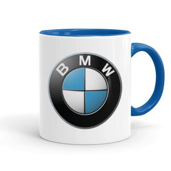 BMW, Κούπα χρωματιστή μπλε, κεραμική, 330ml