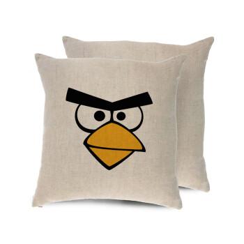 Angry birds eyes, Μαξιλάρι καναπέ ΛΙΝΟ 40x40cm περιέχεται το γέμισμα
