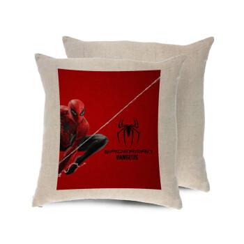Spiderman, Μαξιλάρι καναπέ ΛΙΝΟ 40x40cm περιέχεται το γέμισμα