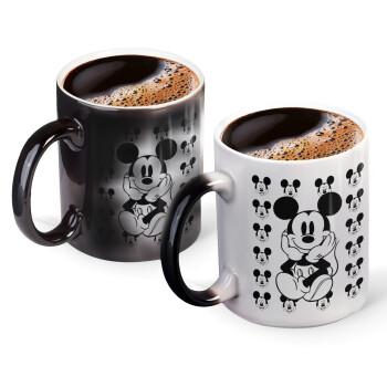 Mickey, Κούπα Μαγική, κεραμική, 330ml που αλλάζει χρώμα με το ζεστό ρόφημα (1 τεμάχιο)