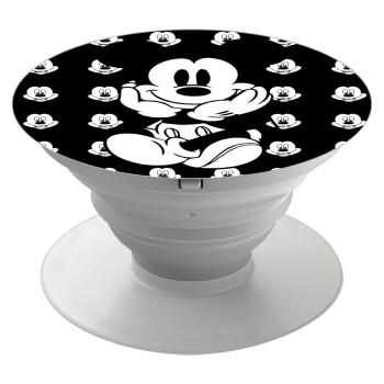Mickey, Pop Socket Λευκό Βάση Στήριξης Κινητού στο Χέρι