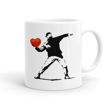Banksy (The heart thrower), Κούπα, κεραμική, 330ml (1 τεμάχιο)