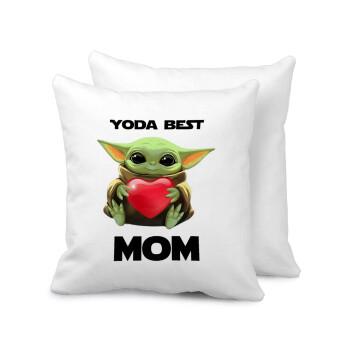 Yoda Best mom, Μαξιλάρι καναπέ 40x40cm περιέχεται το γέμισμα