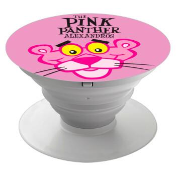 The pink panther, Pop Socket Λευκό Βάση Στήριξης Κινητού στο Χέρι