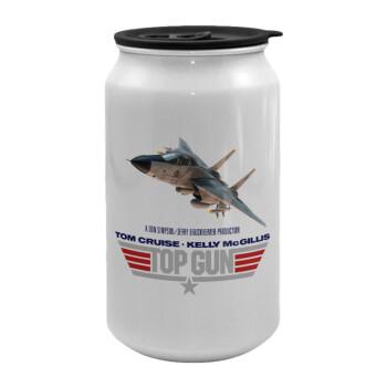 Top Gun, Κούπα ταξιδιού μεταλλική με καπάκι (tin-can) 500ml