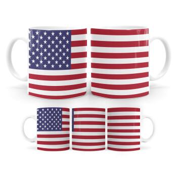Σημαία Αμερικής, Κούπα, κεραμική, 330ml (1 τεμάχιο)