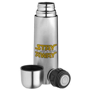 Stay Away, Ισοθερμικό παγουρί & θερμό camping από ανοξείδωτο ατσάλι, διπλού τοιχώματος, 750ml