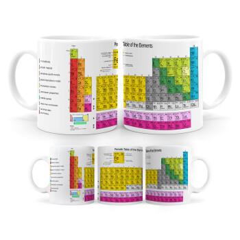 Περιοδικός πίνακας των χημικών στοιχείων, Κούπα, κεραμική, 330ml (1 τεμάχιο)