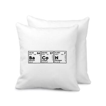 Χημικά στοιχεία το όνομα σου, Μαξιλάρι καναπέ 40x40cm περιέχεται το γέμισμα