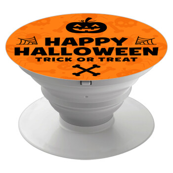 Happy Halloween pumpkin, Pop Socket Λευκό Βάση Στήριξης Κινητού στο Χέρι