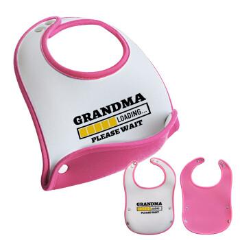 Grandma Loading, Σαλιάρα μωρού Ροζ κοριτσάκι, 100% Neoprene (18x19cm)