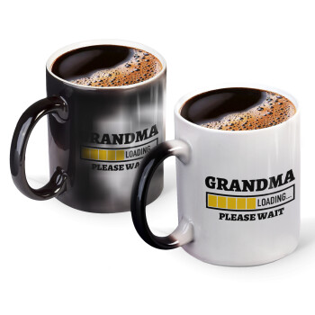 Grandma Loading, Κούπα Μαγική, κεραμική, 330ml που αλλάζει χρώμα με το ζεστό ρόφημα (1 τεμάχιο)