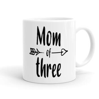 Mom of three, Κούπα, κεραμική, 330ml (1 τεμάχιο)