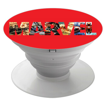 MARVEL Red, Pop Socket Λευκό Βάση Στήριξης Κινητού στο Χέρι