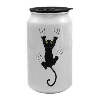 Γατούλα γρατζουνιά, Κούπα ταξιδιού μεταλλική με καπάκι (tin-can) 500ml