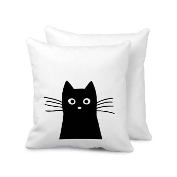Μαύρη γάτα, Μαξιλάρι καναπέ 40x40cm περιέχεται το γέμισμα
