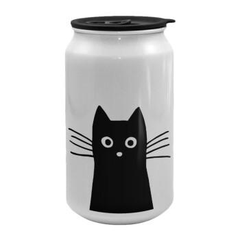 Μαύρη γάτα, Κούπα ταξιδιού μεταλλική με καπάκι (tin-can) 500ml