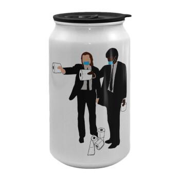 Pulp Fiction 3 meter away, Κούπα ταξιδιού μεταλλική με καπάκι (tin-can) 500ml