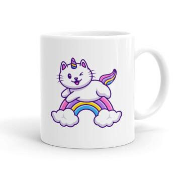 Cute cat unicorn, Κούπα, κεραμική, 330ml (1 τεμάχιο)