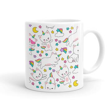 Cats unicorns, Κούπα, κεραμική, 330ml (1 τεμάχιο)