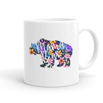 Mama Bear floral, Κούπα, κεραμική, 330ml (1 τεμάχιο)