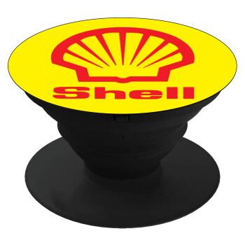 Πρατήριο καυσίμων SHELL, Pop Socket Μαύρο Βάση Στήριξης Κινητού στο Χέρι