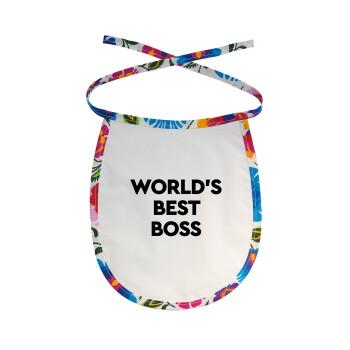 World's best boss, Σαλιάρα μωρού αλέκιαστη με κορδόνι Χρωματιστή