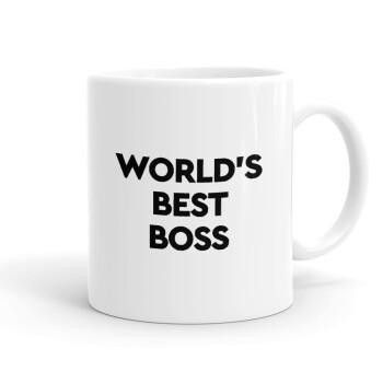 World's best boss, Κούπα, κεραμική, 330ml (1 τεμάχιο)