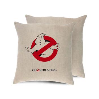 Ghostbusters, Μαξιλάρι καναπέ ΛΙΝΟ 40x40cm περιέχεται το γέμισμα