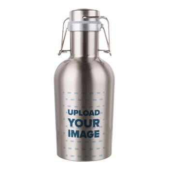 Το δικό σου σχέδιο, Μεταλλικό παγούρι Inox (Stainless steel) με καπάκι ασφαλείας 1L
