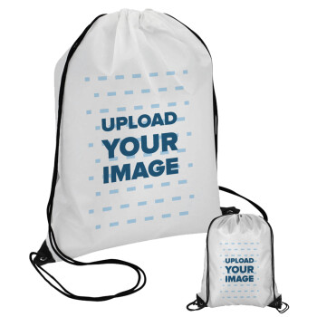 Το δικό σου σχέδιο, Τσάντα πουγκί με μαύρα κορδόνια 45χ35cm (1 τεμάχιο)