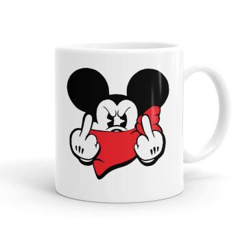 Mickey fuck off, Κούπα, κεραμική, 330ml (1 τεμάχιο)