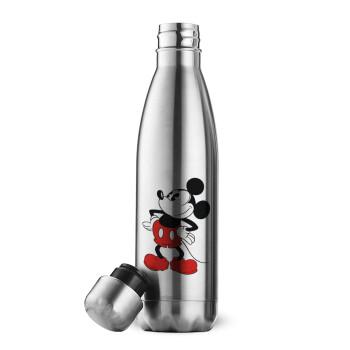 Mickey Classic, Μεταλλικό παγούρι θερμός Inox (Stainless steel), διπλού τοιχώματος, 500ml