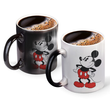 Mickey Classic, Κούπα Μαγική, κεραμική, 330ml που αλλάζει χρώμα με το ζεστό ρόφημα (1 τεμάχιο)
