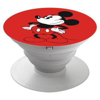 Mickey Classic, Pop Socket Λευκό Βάση Στήριξης Κινητού στο Χέρι