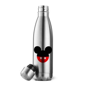 Mickey head, Μεταλλικό παγούρι θερμός Inox (Stainless steel), διπλού τοιχώματος, 500ml