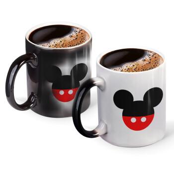 Mickey head, Κούπα Μαγική, κεραμική, 330ml που αλλάζει χρώμα με το ζεστό ρόφημα (1 τεμάχιο)