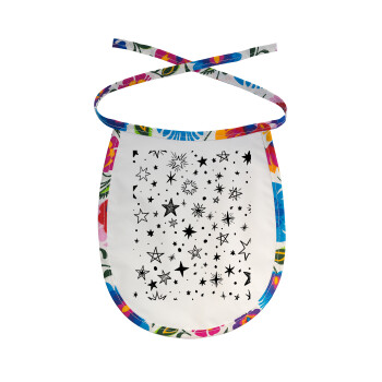 Doodle Stars, Σαλιάρα μωρού αλέκιαστη με κορδόνι Χρωματιστή