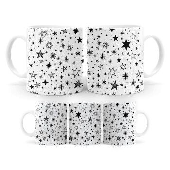 Doodle Stars, Κούπα, κεραμική, 330ml (1 τεμάχιο)