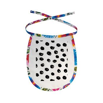 Doodle Dots, Σαλιάρα μωρού αλέκιαστη με κορδόνι Χρωματιστή