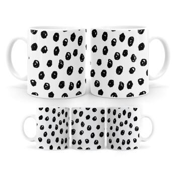 Doodle Dots, Κούπα, κεραμική, 330ml (1 τεμάχιο)