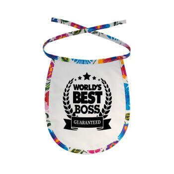 World's best boss stars, Σαλιάρα μωρού αλέκιαστη με κορδόνι Χρωματιστή