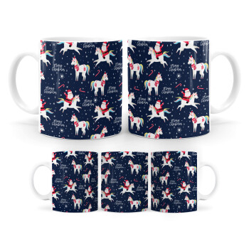 Unicorns & Santas, Κούπα, κεραμική, 330ml (1 τεμάχιο)
